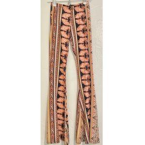 Printed Flare Pants Boho